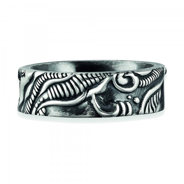 cai Ring 925/- Sterling Silber oxidiert Japan