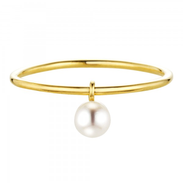 cai Ring 925/- Sterling Silber vergoldet Süßwasserzuchtperle