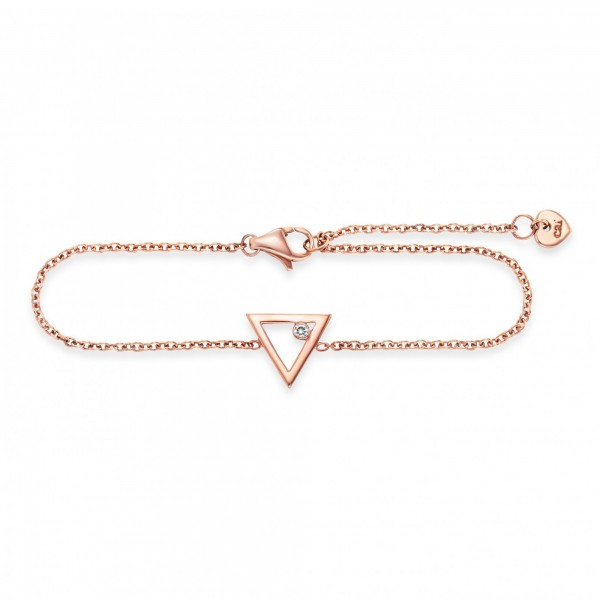 cai Armband 925/- Sterling Silber rotvergoldet Dreieck Zirkonia