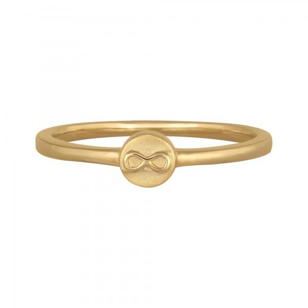 cai Ring 925/- Sterling Silber vergoldet Unendlichkeitssymbol