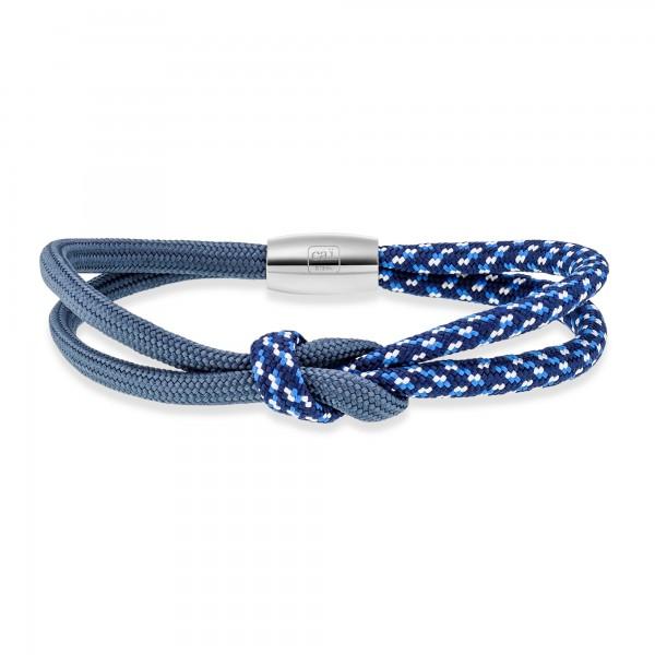 cai Edelstahl Paracord-Nylon Dunkelblau 23cm Armband