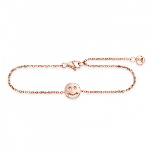 cai Armband 925/- Sterling Silber rotvergoldet Zirkonia Emoji