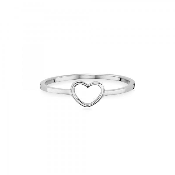cai Ring 925/- Sterling Silber rhodiniert Herz