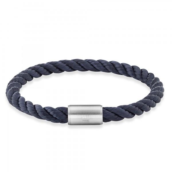 cai Armband Edelstahl Textilband Navy blau 23cm