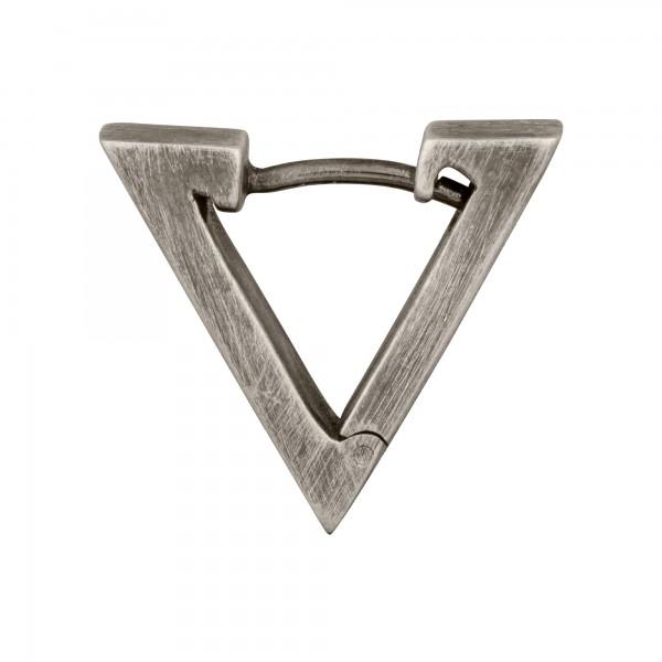 cai Single-Creole 925/- Sterling Silber matt oxidiert Dreieck