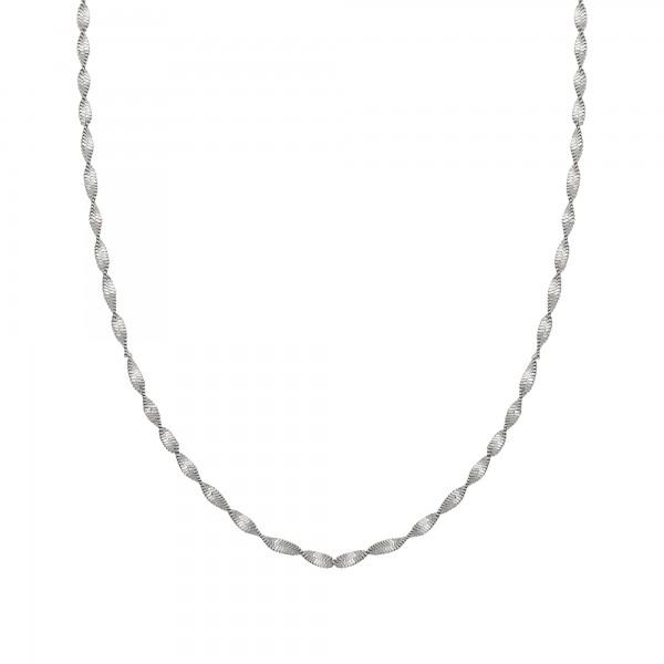 cai Collier 925/- Sterling Silber Flachpanzer Kette gedreht rhodiniert
