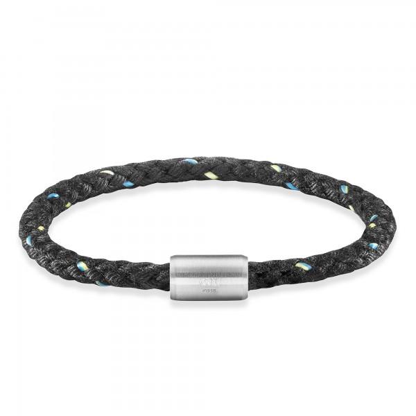 cai Armband Edelstahl Textil schwarz 20cm