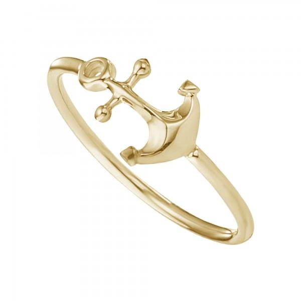 cai Ring 925/- Silber vergoldet Anker