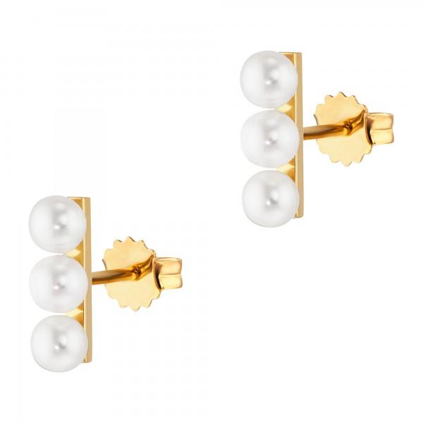 cai Ohrstecker 925/-Sterling Silber vergoldet Perlen