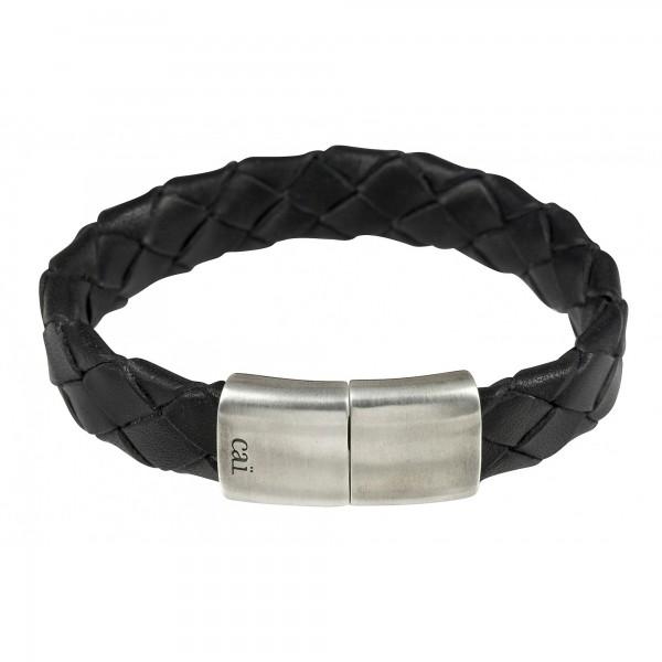 cai Armband 925/- Sterling Silber rhodiniert Lederband Magnetverschluss