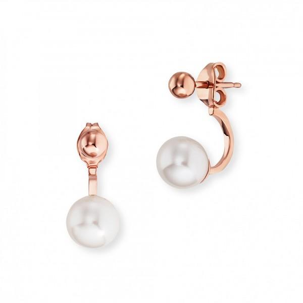 cai Ohrstecker 925/- Sterling Silber rotvergoldet Perlen