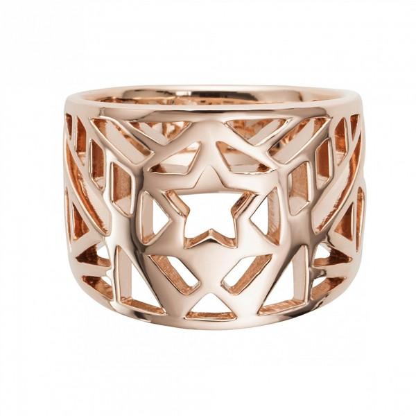 cai Ring 925/- Sterling Silber rotvergoldet Stern