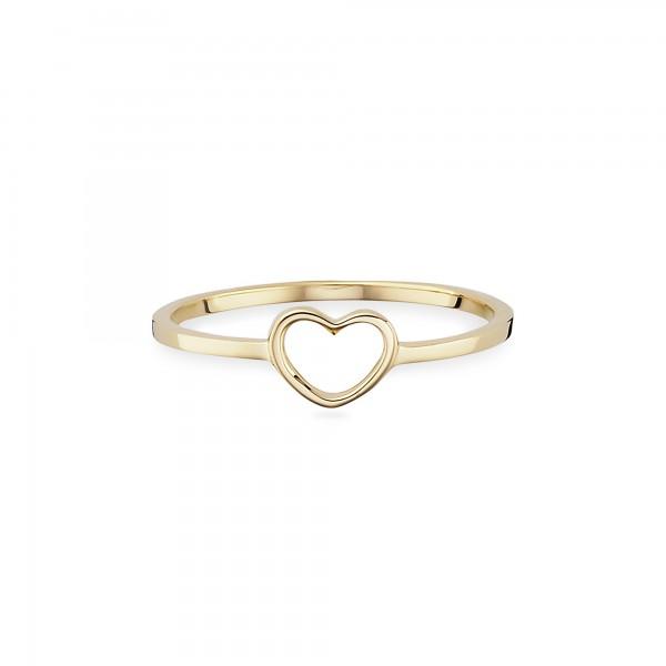 cai Ring 925/- Sterling Silber gelb vergoldet Herz