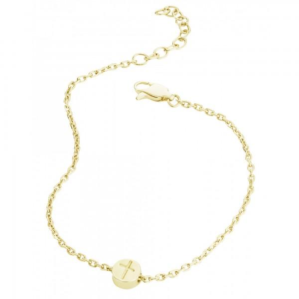 cai Armband 925/- Sterling Silber vergoldet Kreuz