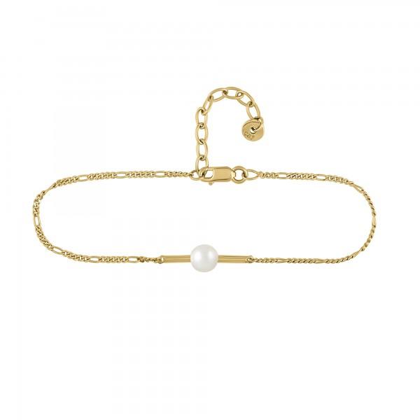 cai Armband 925/- Sterling Silber vergoldet Perle