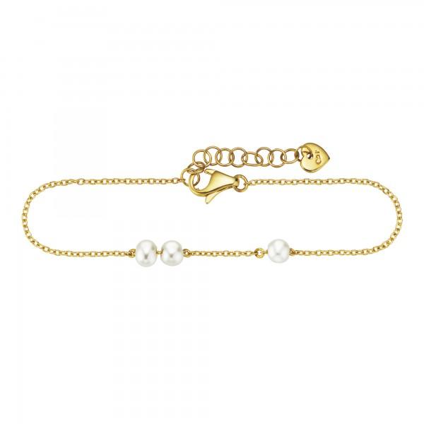 cai Armband 925/- Sterling Silber vergoldet Perlen
