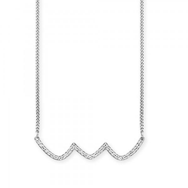 cai Collier 925/- Sterling Silber rhodiniert Topas