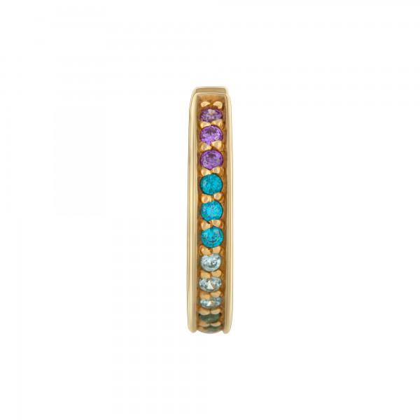 cai Ear Cuff 925/-Sterling Silber gelb vergoldet Zirkonia bunt Rainbow