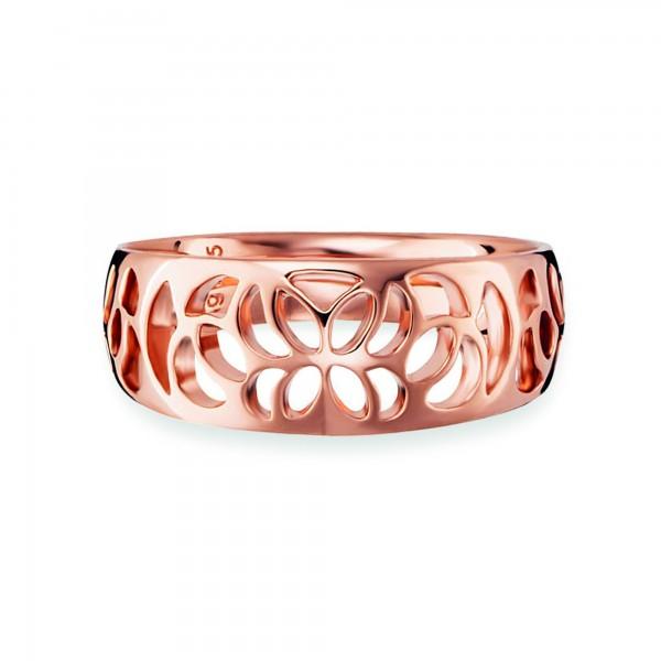 cai Ring 925/- Sterling Silber rotvergoldet Ornamente
