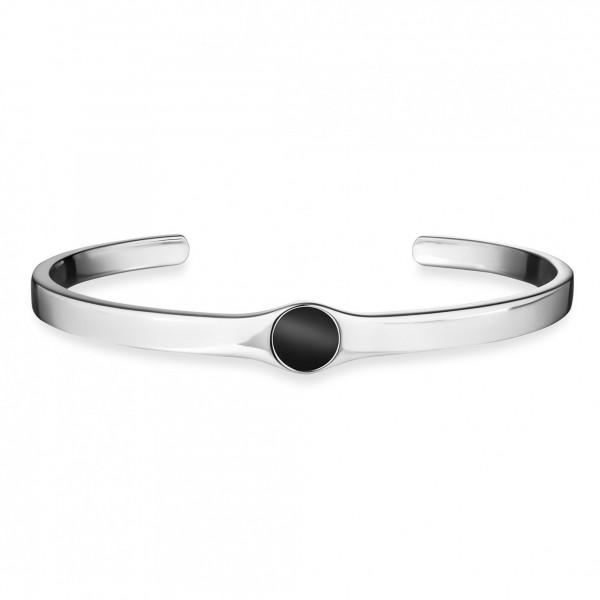 cai Armband 925/- Sterling Silber rhodiniert Onyx