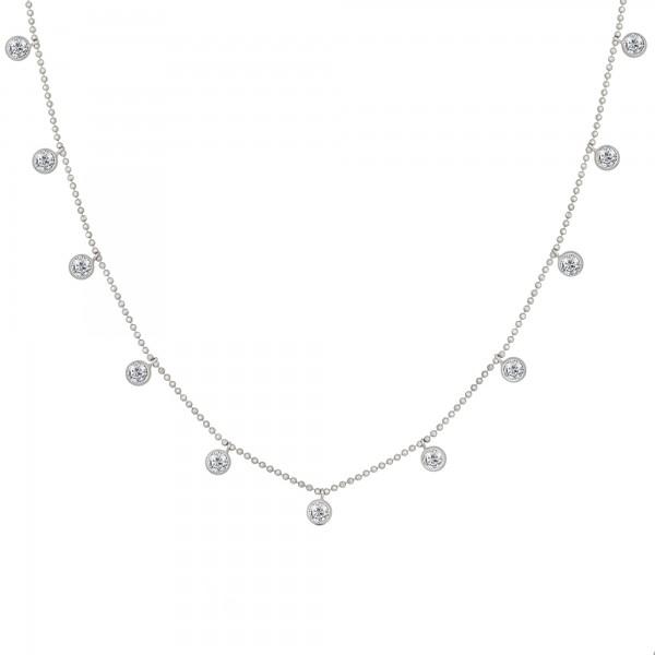 cai Collier 925/- Sterling Silber rhodiniert Anhänger rund Zirkonia
