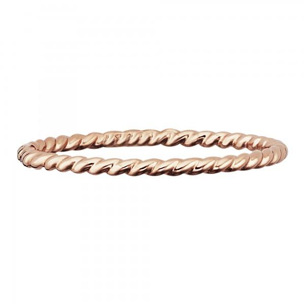 cai Ring 925/- Sterling Silber rotvergoldet matt