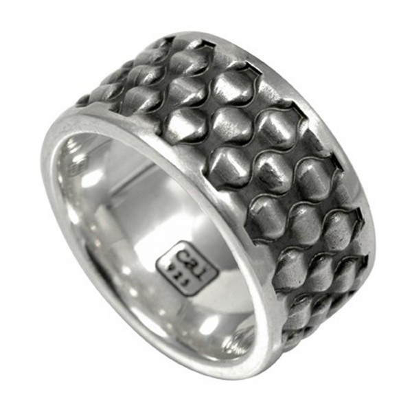 cai Ring 925/- Sterling Silber oxidiert
