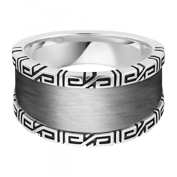 cai Ring 925/- Sterling Silber rhodiniert Ornamente