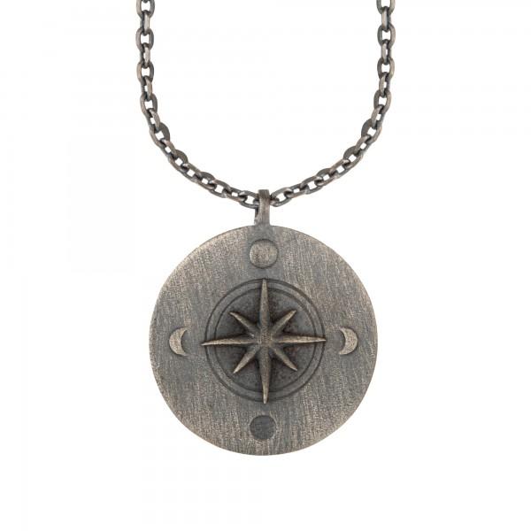 cai Halskette Element Feuer 925/- Sterling Silber oxidiert