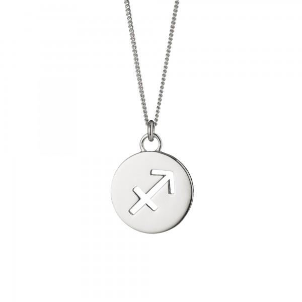 cai Halskette Schütze Sternzeichen 925/- Sterling Silber rhodiniert