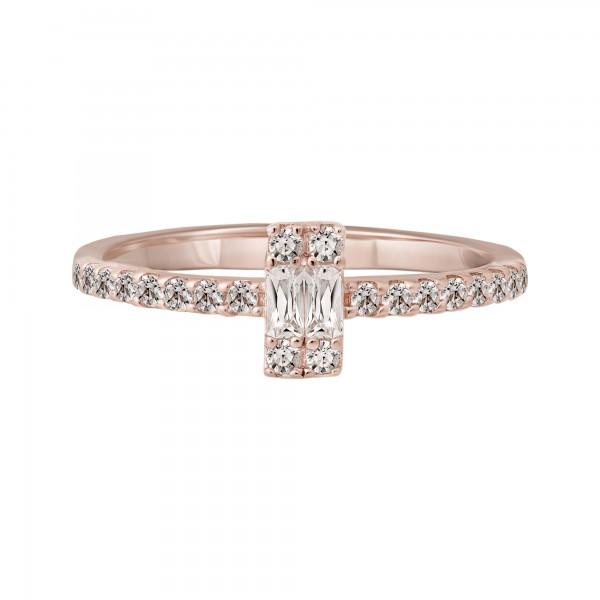 cai Ring 925 Silber rosévergoldet mit Zirkonia