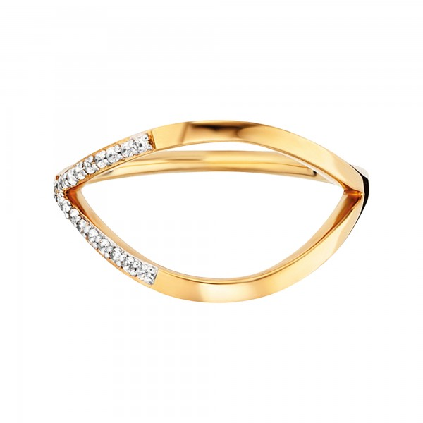 cai 925/- Sterling Silber vergoldet Topas Ring