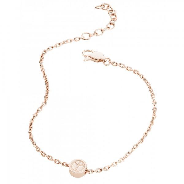 cai Armband 925/- Sterling Silber rotvergoldet Peace